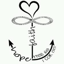faith hope and love tattoo - Google Search