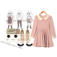 """""""bee // bee and puppycat"""" by blainestrider on Polyvore"""
