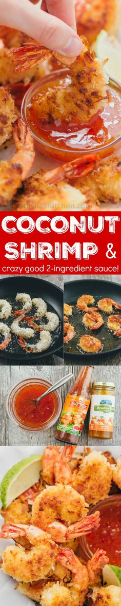 These Coconut shrimp are coated in plenty of coconut for superior crunch and subtle tropical flavor. The 2 ingredient dipping sauce for coconut shrimp will win you over and it's so easy! #sponsored by @reynoldswrap | natashaskitchen.com