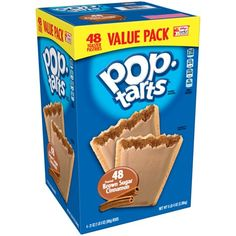 Kellogg's Pop-Tarts Value Pack, Unfrosted Brown Sugar Cinnamon, 16 Ct Cinnamon Pop Tart, Pop Tart Flavors, Pizza Rolls, After School Snacks, Cereal Recipes, Corn Syrup, Toaster, Clean Eating Snacks, Pop Tarts