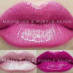 Mauve Ice, Purple Reign Lipstick using SeneGence LipSense Mauve, Berry, Senegence Makeup, Senegence Products, Lip Sence, Lipsense Lip Colors, Long Lasting Makeup, Kissable Lips, Purple Reign