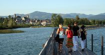 Historic wooden bridge, Rapperswil-Jona.