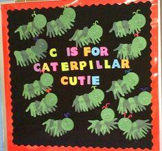 Cute Bulletin Board...Each Caterpiller is a Series of Hand Cutouts!