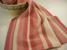 Kitchen Towel Cotton and Linen in Rose and Natural by JeanWeaves, $32.00