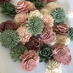12 Loose Flowers Berry Succulent - Wood Flower - Sola Flowers - Pink and Green - Bulk Sola Flowers - Wedding Flowers, Sola Wood Flowers, Wooden Flowers, Diy Flowers, Paper Flowers, Wedding Flowers, Handmade Flowers, Pine Cone Art, Pine Cone Crafts, Pine Cones