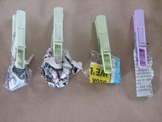 House of Baby Piranha: Newspaper Brushes