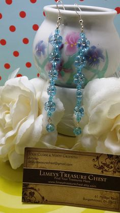 Hey, I found this really awesome Etsy listing at https://www.etsy.com/listing/153888460/light-blue-flower-earrings
