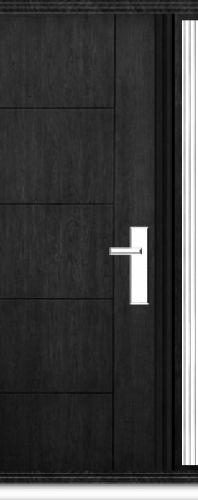 Richerson Mastergrain Fiberglass Front Door with Side Lite Contemporary Collection