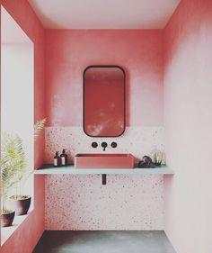 Best Home Decoration Stores Key: 2038921357 Interior Rugs, Cafe Interior, Bathroom Interior, Interior Styling, Interior Design, Scandinavian Interior, Terrazzo, Restroom Design, Dark Interiors