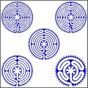 Precisely Printed On Durable Weed Blocking Landscape Fabric All Of Our Labyrinth Designs And Sizes Are Now Available For Your Garden Projects