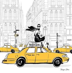 New York Fashion Week by Megan Hess Illustration #NYFW - I now have this!! and I love it on my wall!!!!