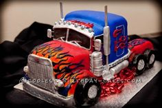 My 4 year old son thought it was the coolest Optimus Prime cake ever! This cake was born out of pure frustration of having to always pay a fortune for...
