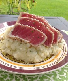 [Restaurant Recreation] seared sesame tuna and wasabi mashed potatoes