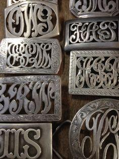 vintage western monogram belt buckles