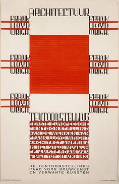 Hendrikus Theodorus Wijdeveld, 'Architectuur/Frank Lloyd Wright,' 1930.  Printed by Jon Enschede en Zonen, Harlem, Netherlands. Color lithograph ©The Minneapolis Institute of Arts, MIA