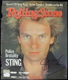 Sting The Police Signed Authentic Rolling Stone Magazine Cover JSA #H04387