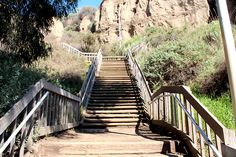 It a beautiful day for a run! If you're looking for a challenge, try the Santa Monica stairs.