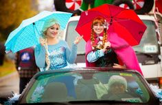 The annual Christmas parade in Roseville CA - they didn't let a bit of rain slow them down for the 53rd annual parade