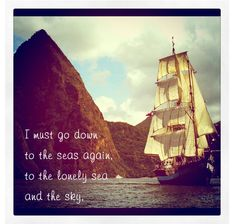 I've always wanted to sail on a boat like this. Random fact about Lissa #1