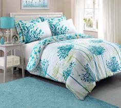 Meadow Teal Floral Duvet Quilt Bedding Cover and Pillowcase Bedding Set Duvet Sets Teal Bedding Sets, Comforter Sets, Quilt Bedding, Linen Bedding, Bed Linens, Master Suite, Master Bedroom, Ikea Bedroom, Gray Bedroom