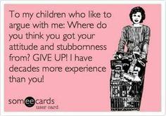 Kids with attitudes