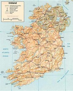 Map Of Counties In Ireland This County Map Of Ireland Shows All - Counties visited map