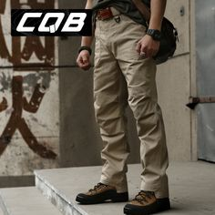 High Quality Outdoor CQB Tactical Pants Men Climbing Trousers Military Male Combat Hiking Camping Long Pants Coyote Brown Khaki-inHiking Pan...