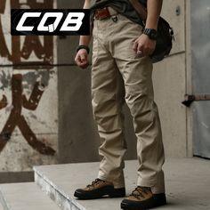 High Quality Outdoor CQB Tactical Pants Men Climbing Trousers Military Male Combat Hiking Camping Long Pants Coyote Brown Khaki-inHiking Pan...