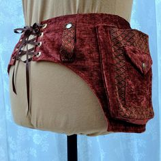 Steampunk utility belt rust and brass fancy by bluemoonkatherine