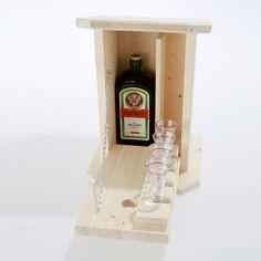 Zwitscherkasten - Minibar für den Garten inkl. 4 Gläsern | LABU24