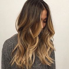 Blonde highlights on medium brown hair. By @sarah_peck # ...