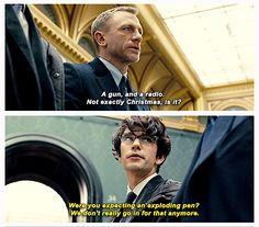 Daniel Craig and Ben Whishaw in Skyfall