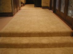 Lapchi Scroll I Straight Stair Installations | Isberian Rug Company