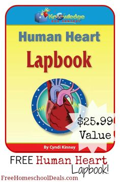 Free Human Heart Lapbook with exclusive coupon code from Free Homeschool Deals!  Just downloaded mine.