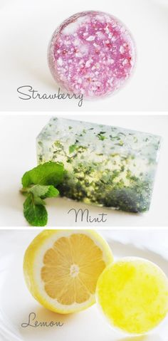 How to make different types of soap from things in your kitchen.