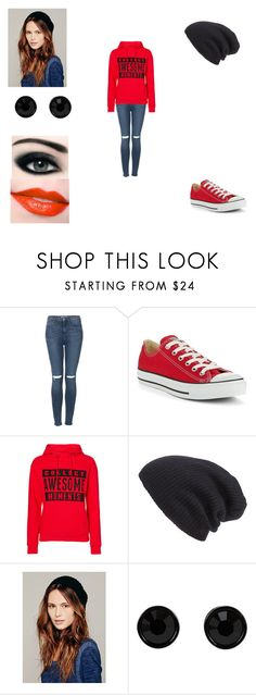 """""""Untitled #357"""" by oreo-demon ❤ liked on Polyvore featuring Topshop, Converse, Vero Moda, Leith, Max Factor, Free People, Maybelline and Givenchy"""