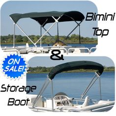 New Pontoon Boat Bimini Top Only / Top and Storage Boot 8' x 10' - http://boatpartdeals.com/boat-covers/console-t-top-covers/new-pontoon-boat-bimini-top-only-top-and-storage-boot-8-x-10/