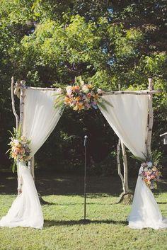 country wedding ceremony backdrop arch idea / http://www.himisspuff.com/wedding-backdrop-ideas/2/