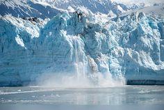 Alaska, Glaciar, Hielo, Parto