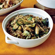 Thanksgiving Greens Recipes from Food and Wine  Creamy Mustard Greens with Fried Shallots