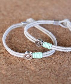 Boy Baptism, Christening, Bracelets, Jewelry Ideas, Craft, Fashion, Handmade Necklaces, String Bracelets, Style