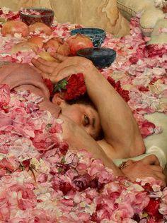 Las rosas de Heliogábalo; Lawrence Alma-Tadema (detalle)