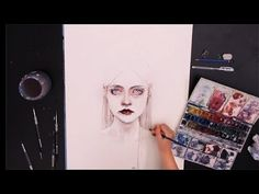 Sped up painting - Queen of Diamonds by artist Agnes-Cecile. Beautiful and amazing. Beyond words.