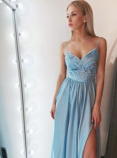 Prom dresses blue - ALine Spaghetti Straps Blue Satin Prom Party Dress with Appliques – Prom dresses blue Straps Prom Dresses, Gold Prom Dresses, Women's Evening Dresses, Prom Dresses For Sale, A Line Prom Dresses, Grad Dresses, Prom Party Dresses, Blue Dresses, Maxi Dresses