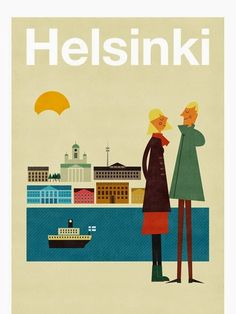 Poster Illustration: Helsinki by Blanca Gómez as part of Human Empire's Artist Series