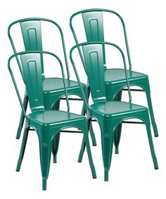 Matte Green Industrial Dining Chairs