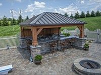 Patio and Outdoor Kitchen & Covered Bar