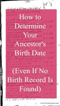 We are familiar with the traditional birth certificate research. We use those for documenting the birth date of an ancestor, their parents' names, and their location in time. But you do not have to go too far back in your research timeline to a point when Genealogy Search, Family Genealogy, Lds Genealogy, Genealogy Forms, Genealogy Organization, Organizing Paperwork, Genealogy Websites, Family Tree Research, Birth Records