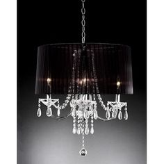 ORE Furniture Crystal Drop 6 Light Chandelier