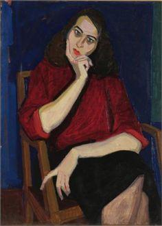 Portrait of A.G - Panayiotis Tetsis 1954